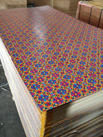 Good Quality and Low Price,New Flowr Color ,Big Flower Design Paper Overlaid Plywood