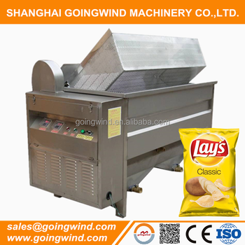 Semi automatic potato chips batch fryer machine small electric or gas potatoes crisp frying equipment cheap price for sale