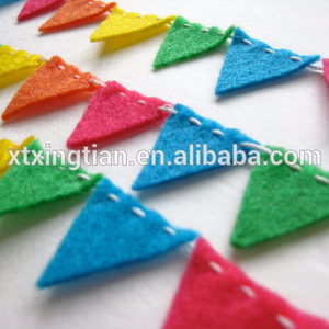 Brightly Colored In Pink Orange Yellow Green Blue Mini Bunting Felt Garland