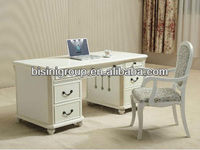 Elegant style luxury design hand made furniture, wooden office desk table & chair,size can be customized--BG90325 MOQ:1 SET