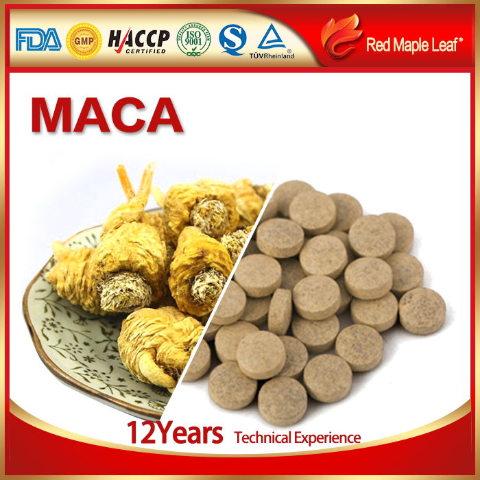 Energy Boost Function and Herbal Supplements Type Maca Tablet