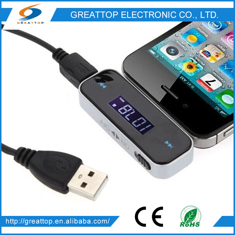 Cheap And High Quality portable mp3 fm transmitter