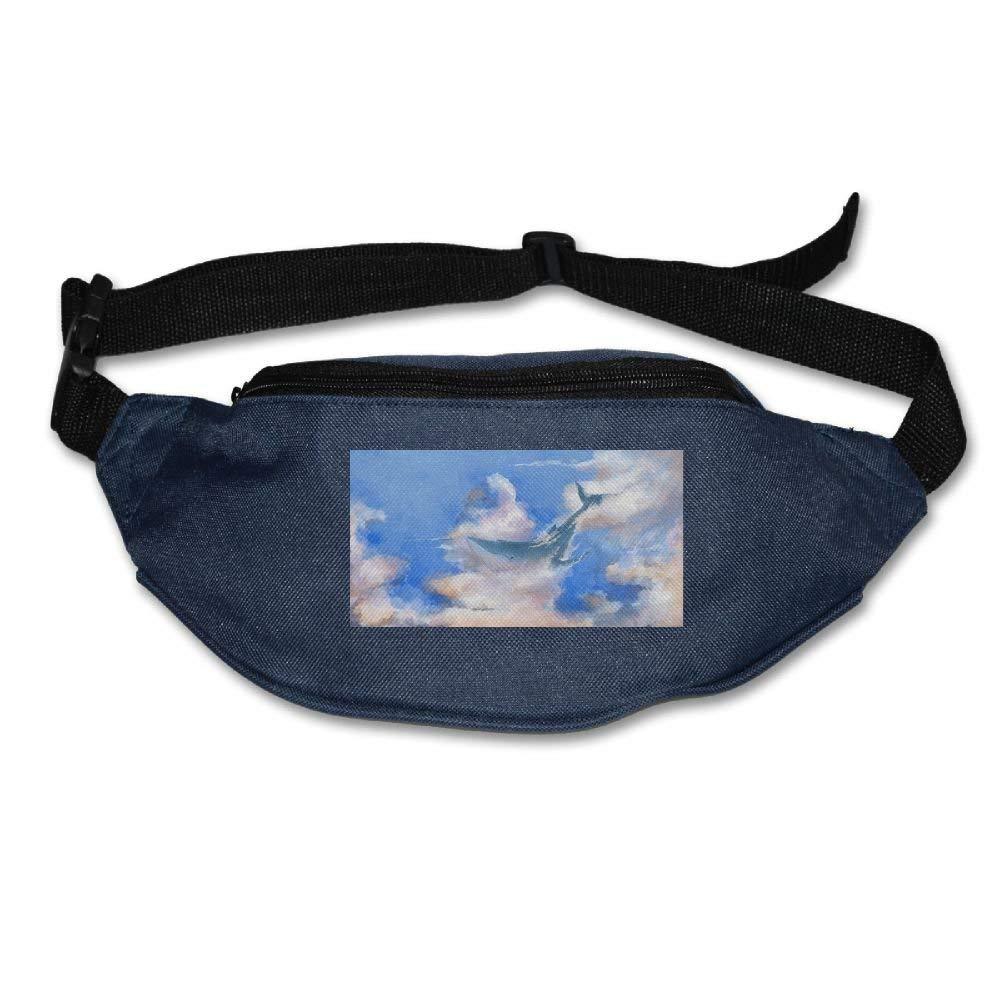 Jessent Unisex Waist Bags Pockets Whale Sky Fanny Pack Waist/Bum Bag Adjustable Belt Running Cycling Bag