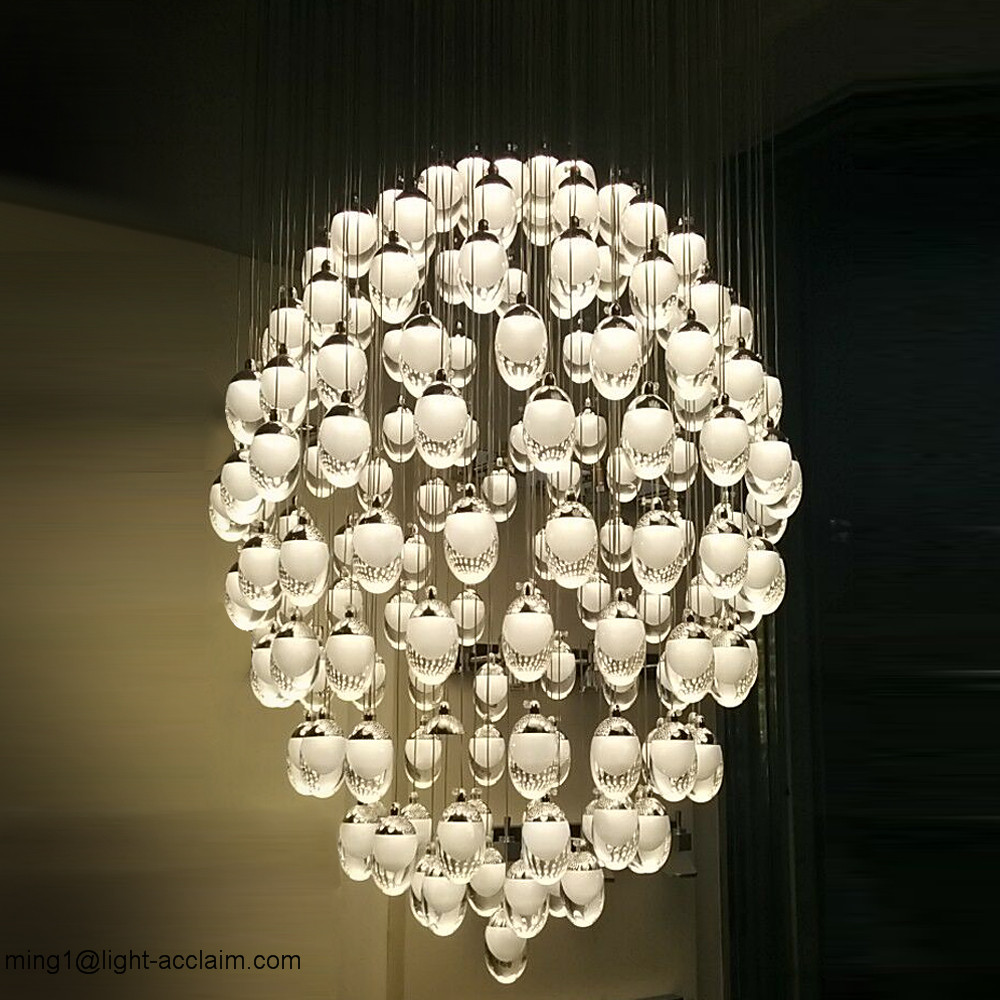 Hanging egg acrylic house led ceiling lighting ceiling lights