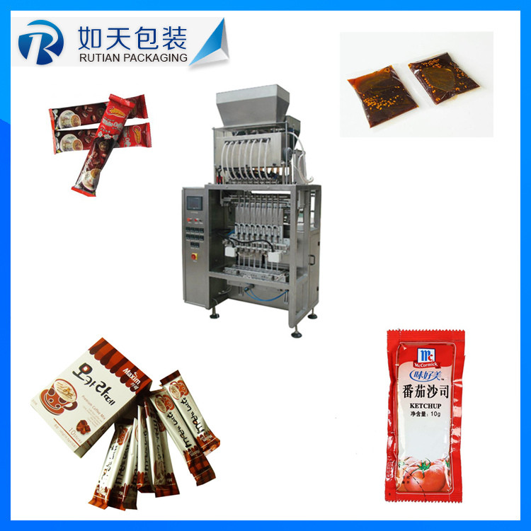 10 years warranty vertical type seasoning packing machines for chestnut puree/chestnut paste/preserved red <strong>dates</strong>