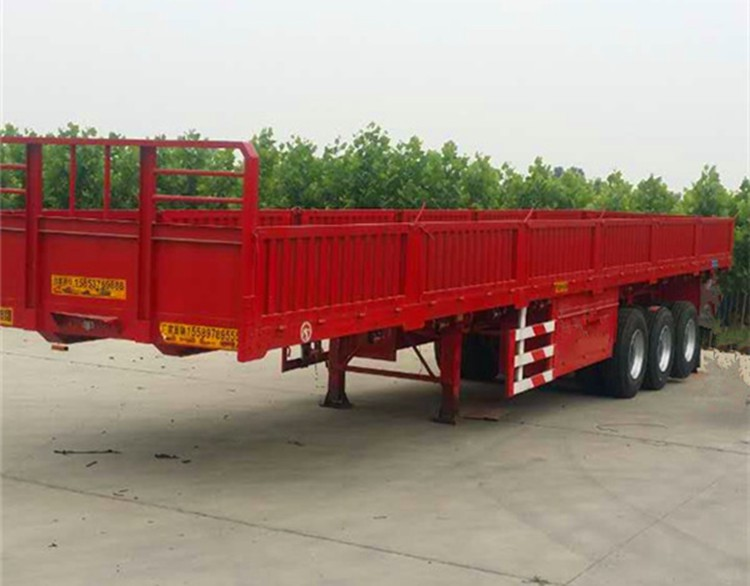 China High quality Flatbed Truck Trailer Cargo and Container Carrier semi truck