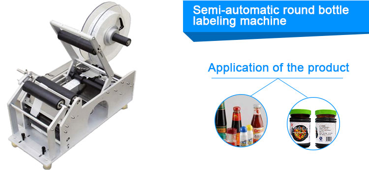 Table Top Semi Automatic Flat Bottle Labeling Machine