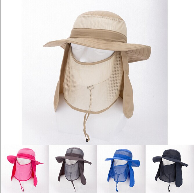2015 Summer Casual Men Women Solid Outdoor Bucket Hat Breathable Anti-UV  Sun Hat Multi 0b754a27737a