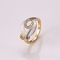 12299 Fine jewelry gold ring designs luxury glass copper alloy rings for girl