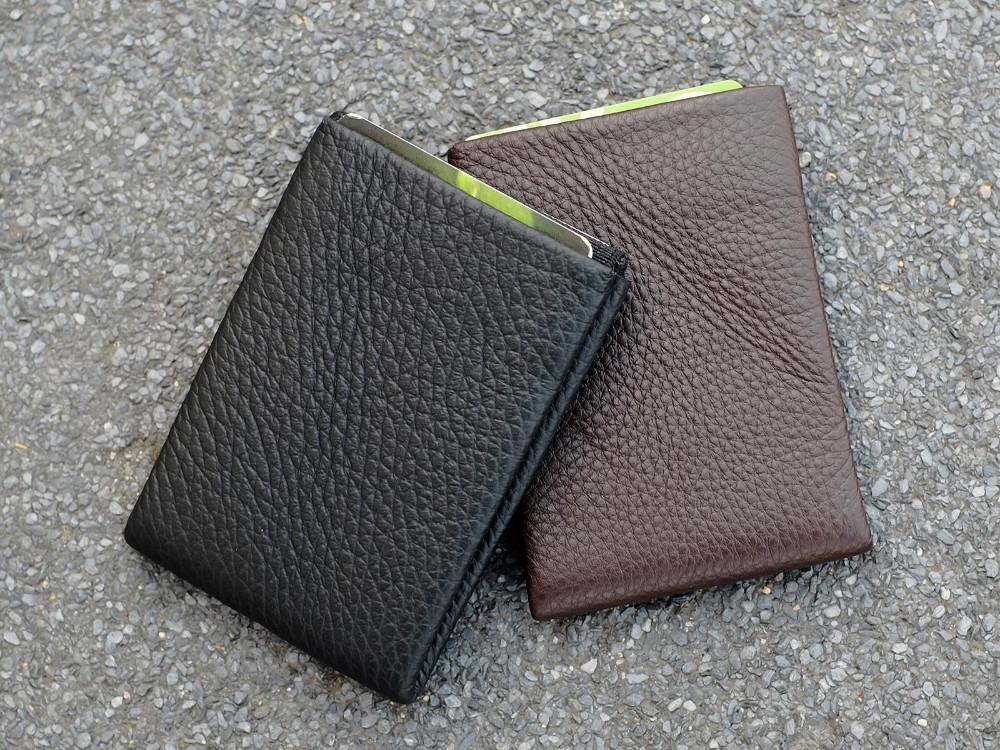 NERO Leather Wallet Card Holder Minimalist Wallet Compact Slim RFID Blocking