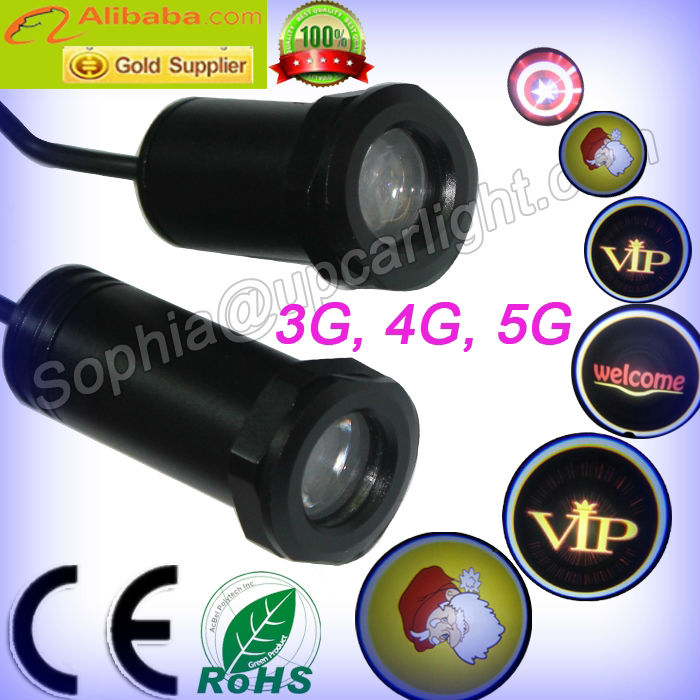 super bright DC 12 24V G3 G4 G5 3W 3D jeep logo led ghost shadow light, Any customized logo are available