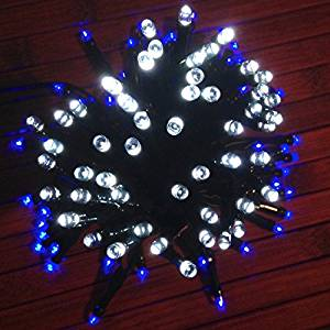 devida blue and cool white solar christmas hanukkah string lights outdoor decorations gifts 100 - Blue And White Outdoor Christmas Decorations