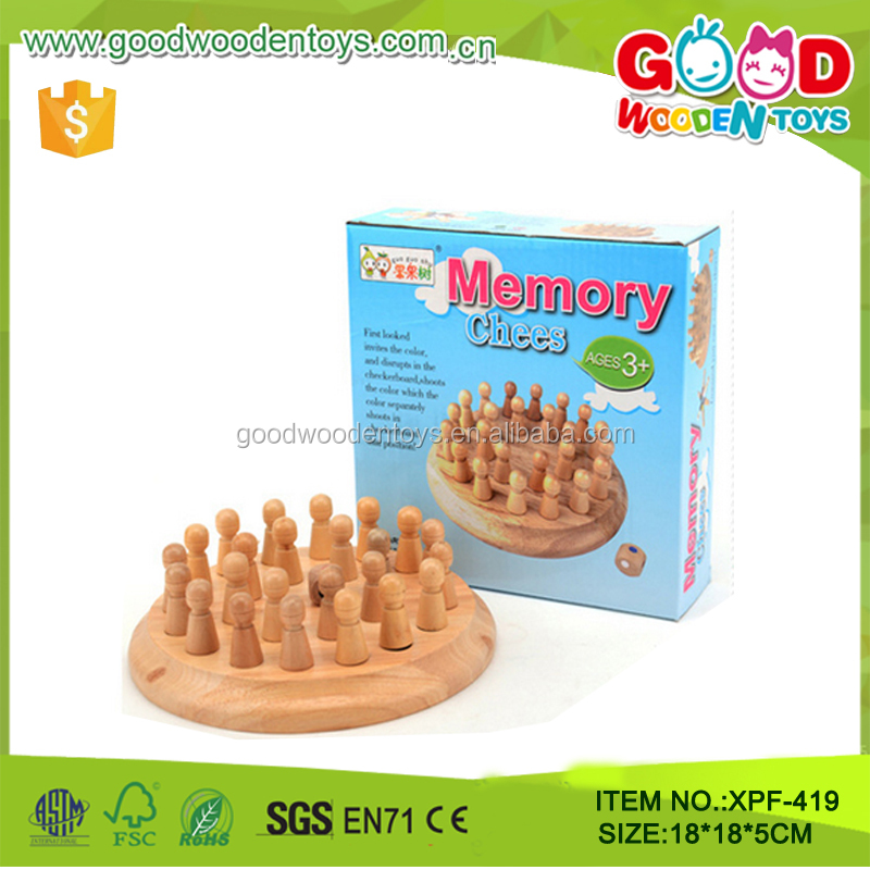 Wooden Memory Board Game wood Chinese chess board with game pieces for <strong>kids</strong>