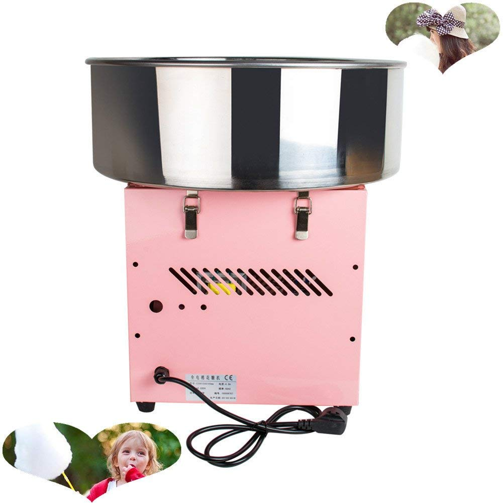 Pevor Commercial Cotton Candy Machine, 110v Electric Cotton Candy Machine Floss Maker Commercial Carnival Party Lovely Pink for Kids (Shipping From USA)