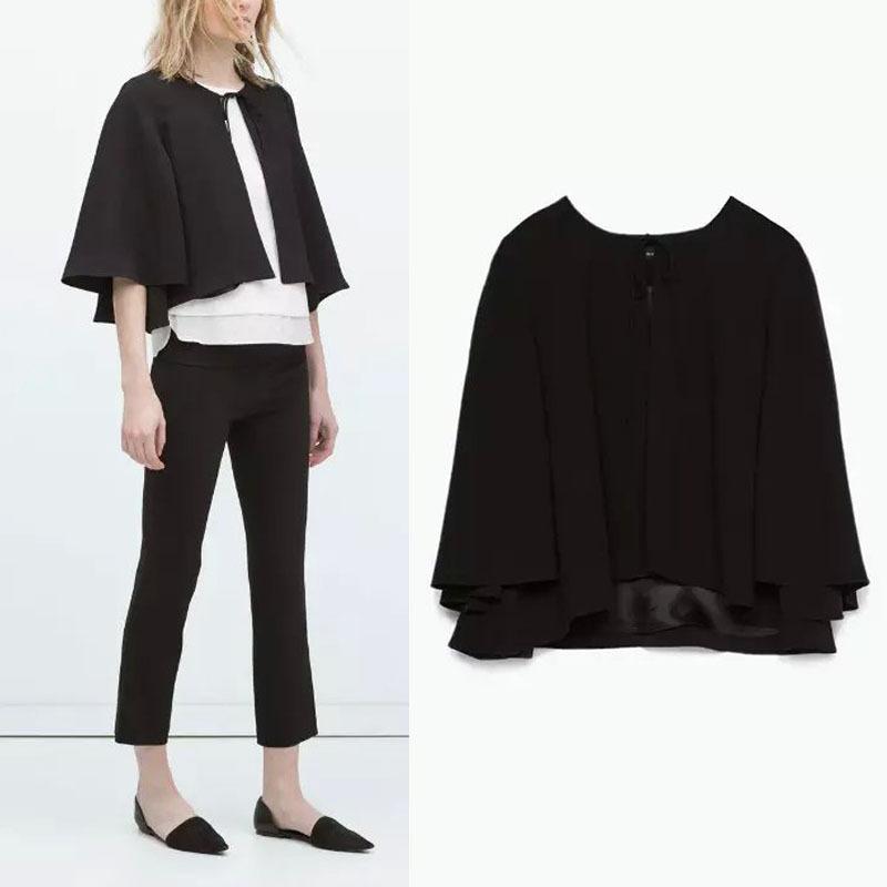 Buy European fashion black Crewneck Batwing Sleeve loose Short ...