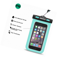 Wholesale custom water proof phone pouches cell phone waterproof cover, PVC small waterproof pouch bag for cell phone