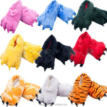 Unisex Cosplay Plush Slippers Monster Animal Paw Warm Indoor Slippers Shoes