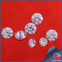 jewelry making loose stone moissanite d color perfect cut synthetic 0.3 carat moissanite