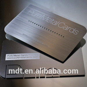 black metal card business for promotion stainless steel material