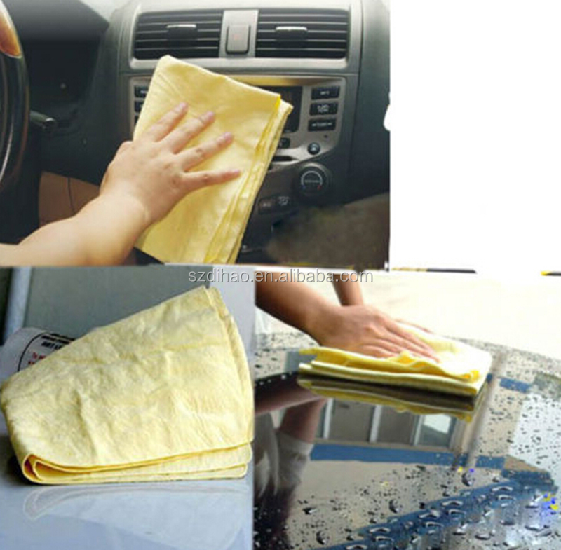 DIHAO Cleaning Towel Genuine Oil Tanned Car Wash Chamois Leather and PVA CLEAN CHAMOIS TOWEL