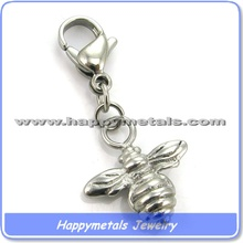 happymetals stainless steel small bee charms