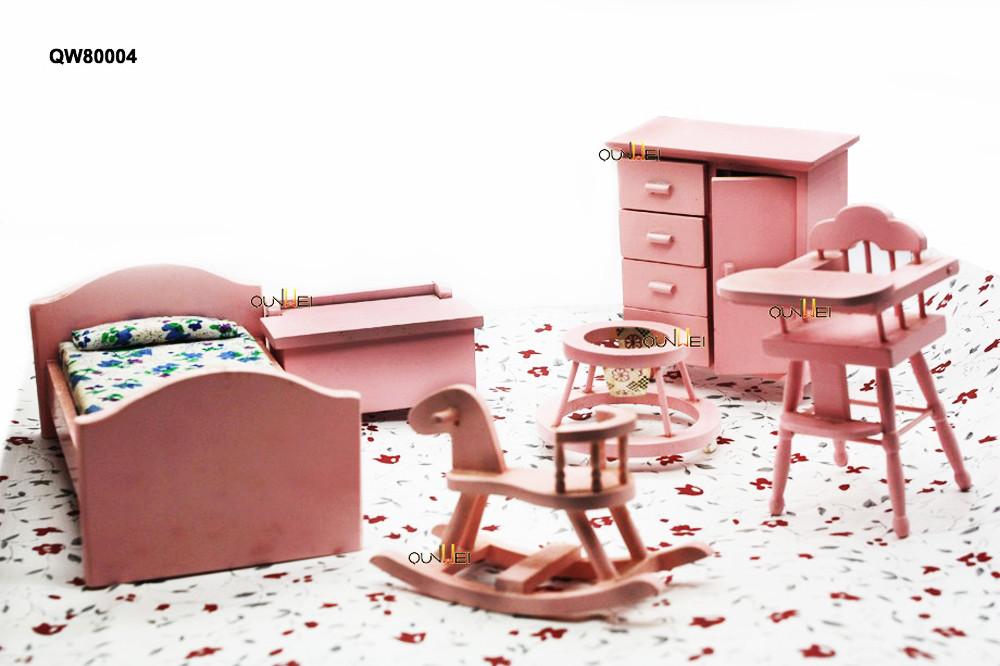 Miniatuur Design Meubels : Vintage poppenhuis miniatuur meubels nite stands bed crib cradle