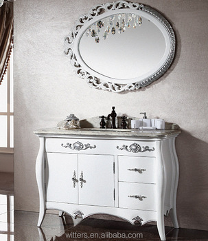 White Shabby Chic Bathroom Cabinet