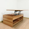 Fashion new design wooden coffee , modern lift height adjustable tea table