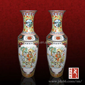 Tall Chinese Antique Large Ceramic Floor Vases