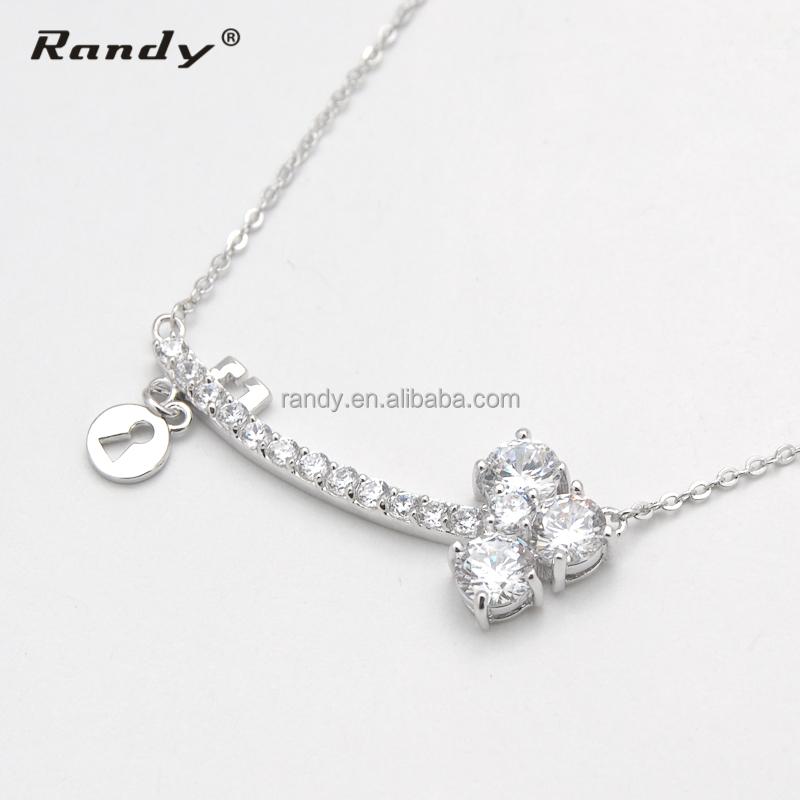 Simple Design Fancy Women Necklace White Stone Necklace Set - Buy ...
