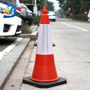 S045A High Quality Custom Logo Traffic Road Safety Reflective Cone Sleeves/Collars/Covers/Sheeting with Low Price