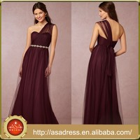 BD79 Newest Top Design Lady Evening Dresses for Bridesmaid Wine Red Convertible Plus Size Vestido Madrinha de Casamento