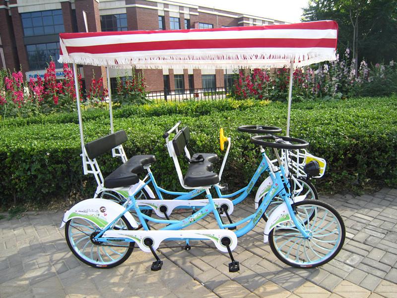 4 wheel 4 seats leisure surrey bike 22 24 best selling fashion tandem surrey bicycle buy. Black Bedroom Furniture Sets. Home Design Ideas