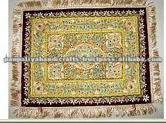 Absolutely Exquisite 100% Handmade Zardozi Royal Jewel Carpet / Rug / Wall Hanging with SEMI-PRECIOUS stones and amazing