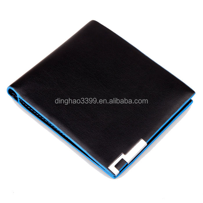 Dongguan Very Cheap PU Men's Wallets ID Card Holder with Pocket, Wholesale Hot Selling Fashion Leather Wallet
