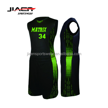 new style 625de 9ab6a black and green basketball jersey