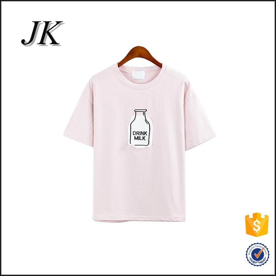Custom high quality women plain printing 100 cotton sublimation t shirt 9fd20e57c