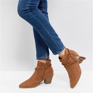 Western Wrap Tie Boot Guangzhou Plus Size Women Winter Brown Boots