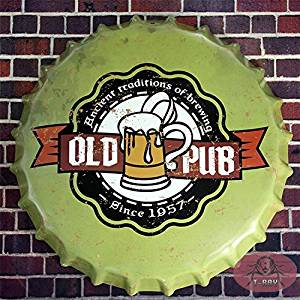 T-ray 35cm The Old PUB Retro Metal Tin Signs Tin Plaque Advertising Shop Bar pub Garage Wall Decor RM-40