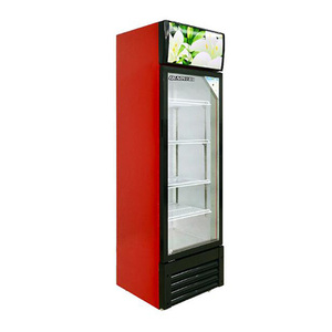 358 Liter Single Glass Door Display Commercial Coco Cola Pepsi Refrigerator for stores