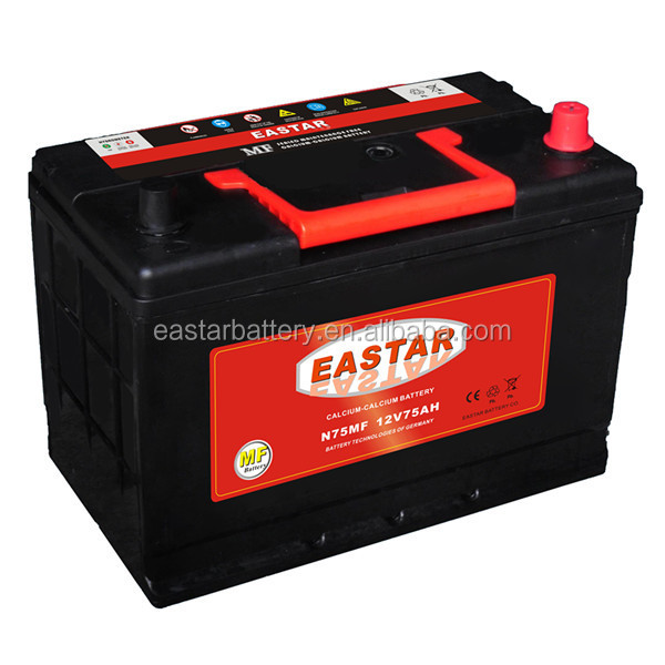 75d23l kuru tahsil araba pil 12v 75d23l car battery