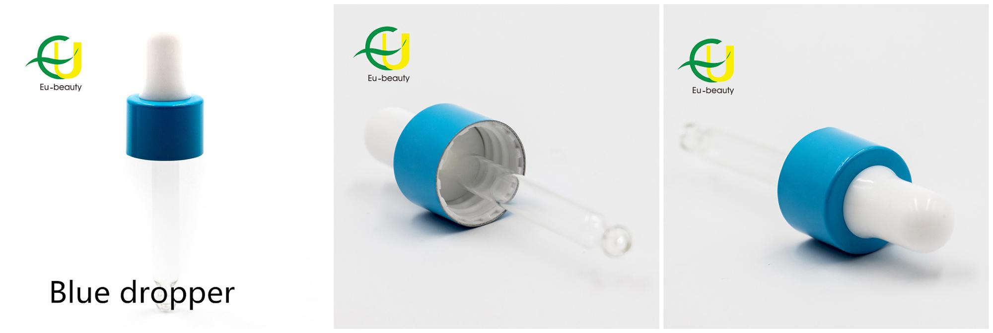High Quality gold/silver/black/white/yellow/blue glass dropper caps for 18/410 cosmetic bottle neck