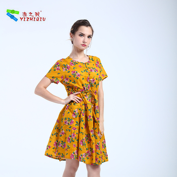 YIZHIQIU Wholesale Pocket High Waist Style Dress