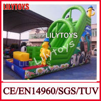 china manufacture lily toys warranty 3-5years inflatable land slide kid backyard jumping toy inflables juegos with CE blower