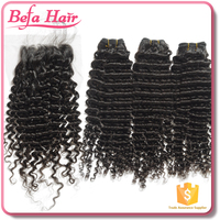 New style cheap Deep curls virgin hair weft brazilian virgin hair extension Brazilian hair weave with lace closure