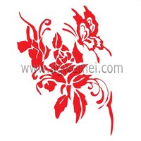 butterfly with flower car tattoo sticker