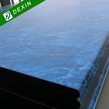 HPL Colored Blue Marble Table Top/Countertop/Work Top/Kitchen Top