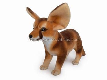 Realistic Plush Fennec Fox Toy Stuffed Fennec Fox Plush Toy Plush