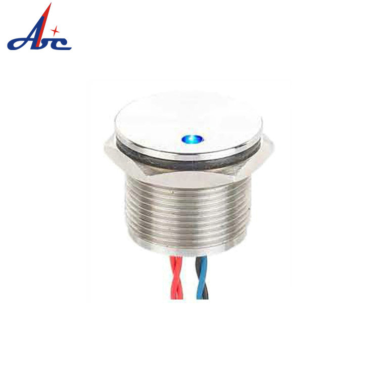 A1 OEM Waterproof 16mm Momentary 24V Dot LED IP68 Piezo Switch PS16B-PNOF-D