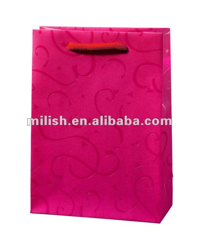 Customized flower pattern design PP printed Gift Bag/Shopping Bag
